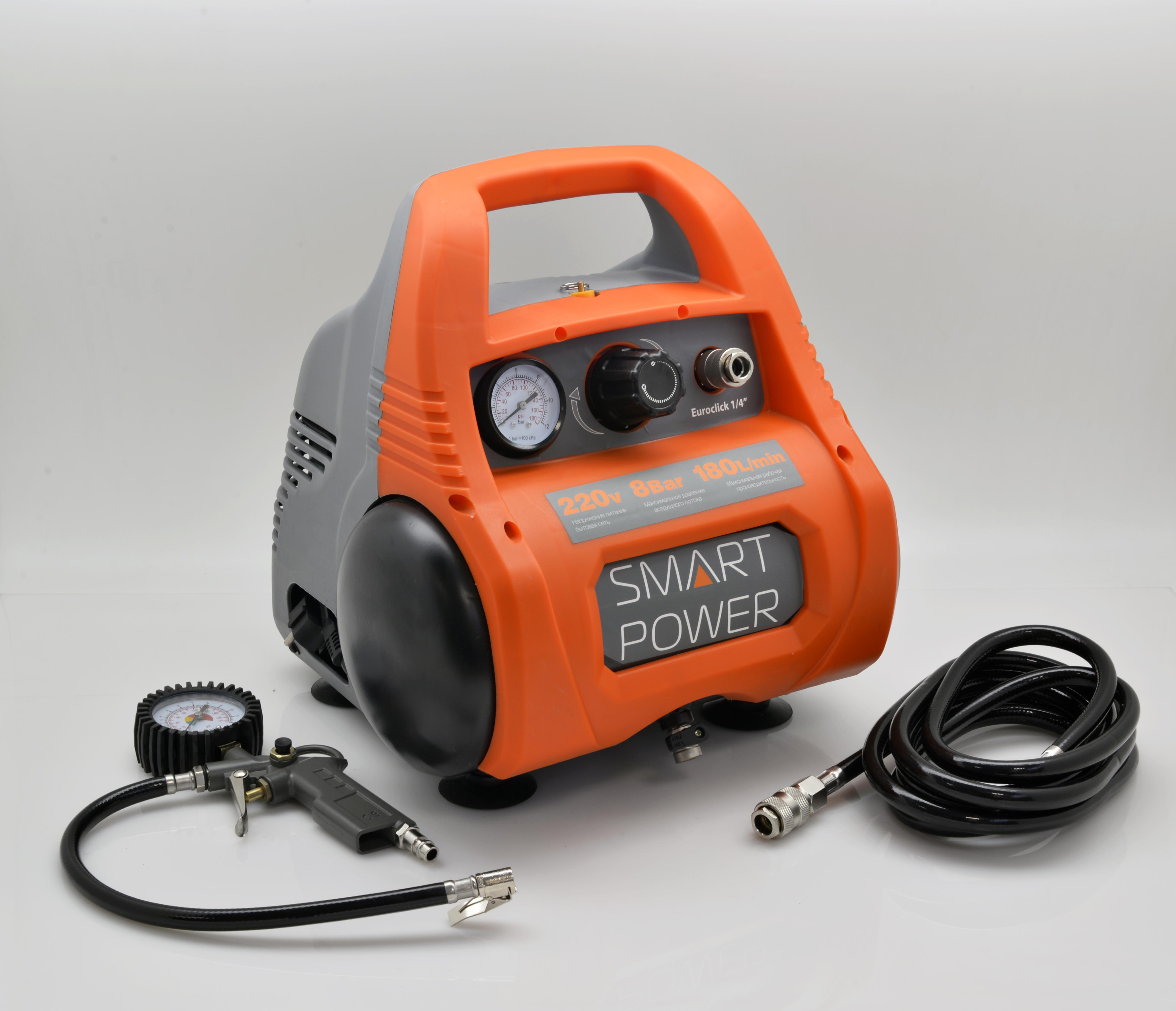 Компрессор универсальный с ресивером BERKUT SMART POWER SAC-280 (220В, 180 л/мин) компрессор для шин 12v 14