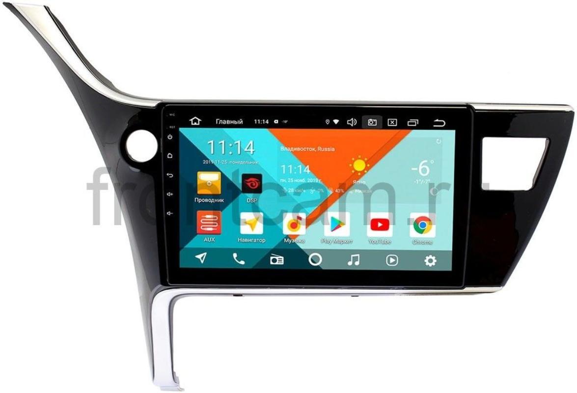 Штатная магнитола Toyota Corolla XI (для авто без камеры) Wide Media KS1135QR-3/32 DSP CarPlay 4G-SIM на Android 10 (+ Камера заднего вида в подарок!)