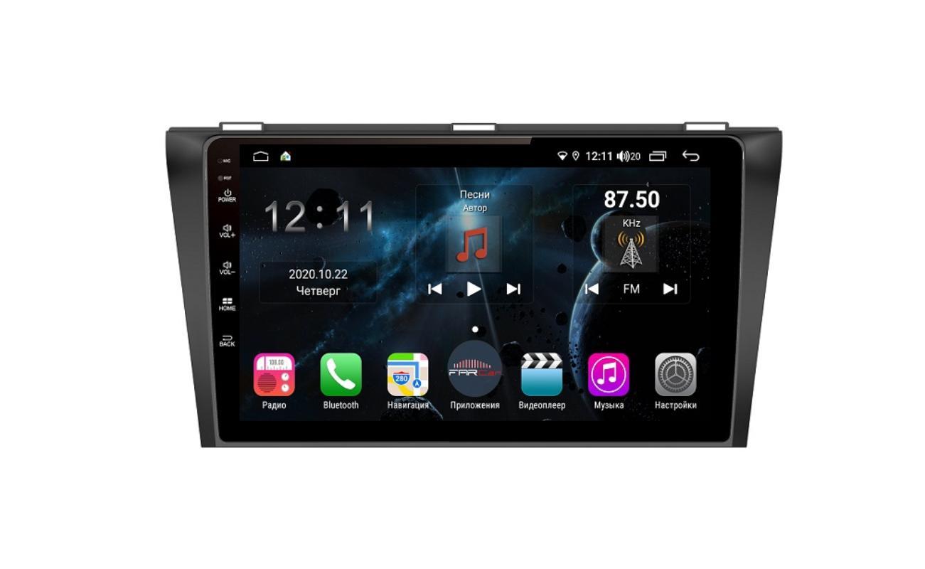 Штатная магнитола FarCar s400 для Mazda 3 на Android (TG034R) (+ Камера заднего вида в подарок!)