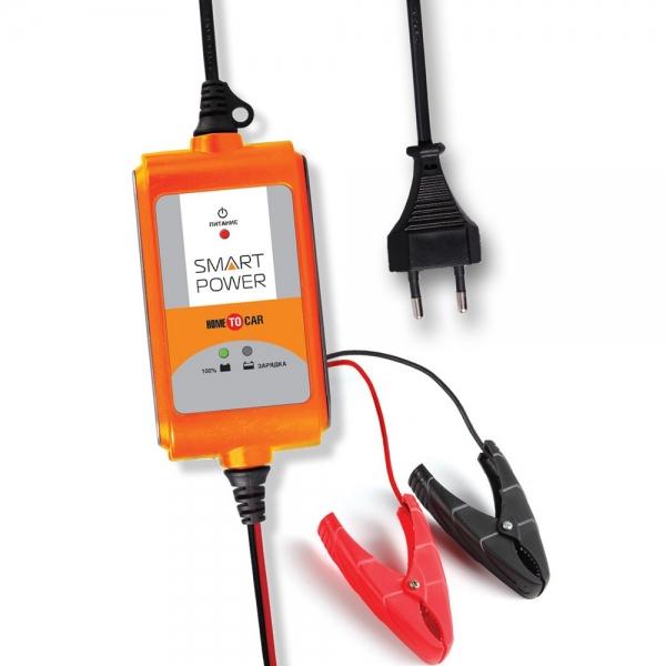 Устройство зарядное АКБ SMART POWER SP-2N (12В,2А) пуско зарядное устройство агрессор agr sbc 040 brick 9 фаз зарядки ток зарядки 4а для 6v 12v акб