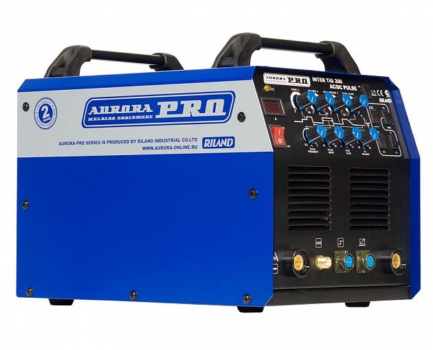 Аппарат аргонодуговой сварки AuroraPRO INTER TIG 200 AC/DC PULSE (TIG+MMA) MOSFET сварочный аппарат brima tig 160 ac dc