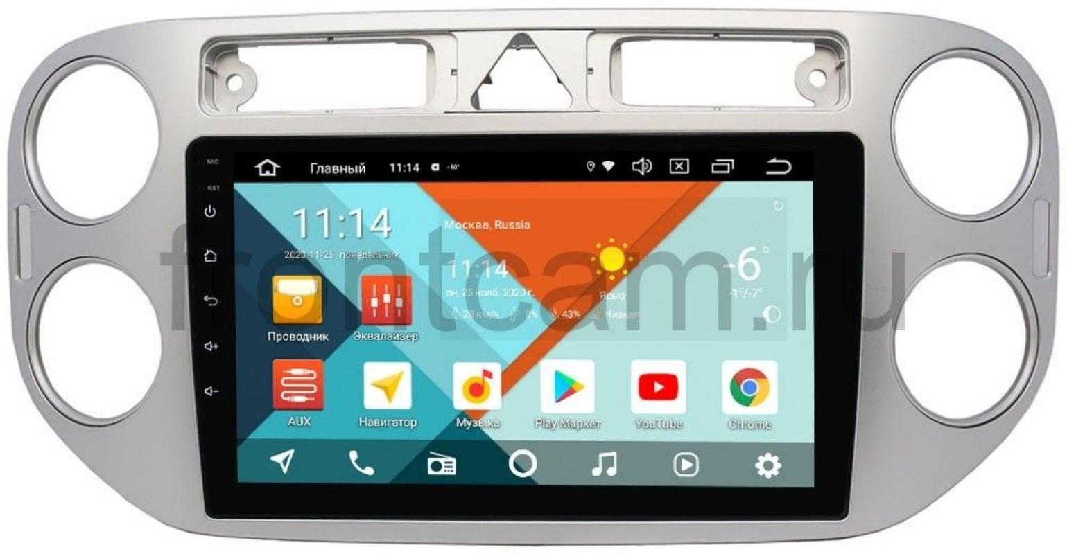 Штатная магнитола Wide Media KS9048QM-2/32 DSP CarPlay 4G-SIM для Volkswagen Tiguan 2007-2011, Golf Plus 2004-2014 на Android 10 (+ Камера заднего вида в подарок!)