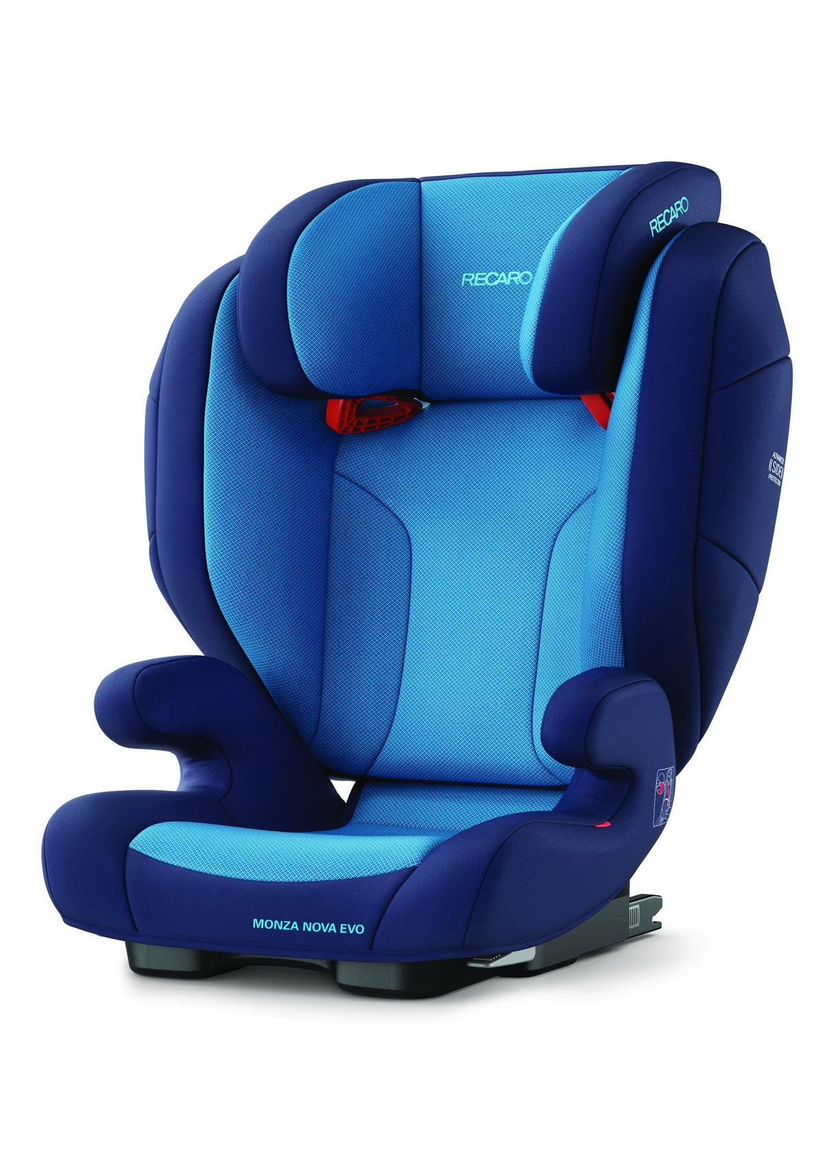 Автокресло Recaro Monza Nova Evo Seatfix Xenon Blue (+ Солнцезащитные шторки в подарок!) автокресло recaro monza nova 2 seatfix prime pale rose антисептик спрей для рук в подарок
