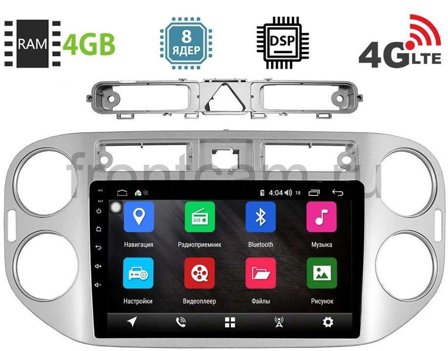 Штатная магнитола Volkswagen Tiguan 2007-2011 LeTrun 1858-2944 на Android 8.1 (8 ядер, 4G SIM, DSP, 4GB/64GB) 9048 (+ Камера заднего вида в подарок!)