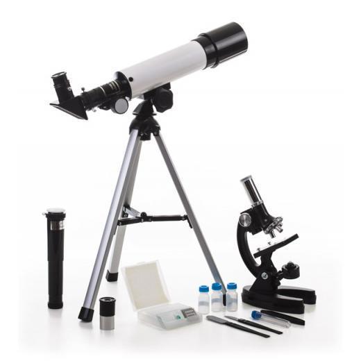Набор Velvi в кейсе: телескоп 360/50 и микроскоп 1200х (+ Книга «Невидимый мир» в подарок!) eastcolight микроскоп mp 450 телескоп 20351 26167