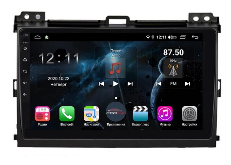 Штатная магнитола FarCar s400 для Toyota PRADO на Android (TG456R) (+ Камера заднего вида в подарок!)