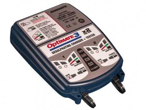 Зарядное устройство Optimate 3 x 2 кабель в прикуриватель 12в мото din и авто sae optimate o2