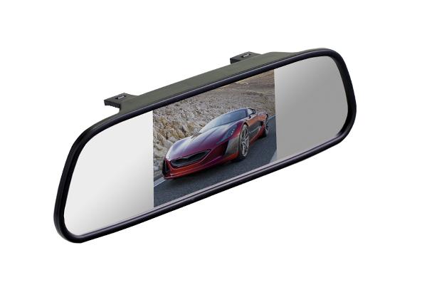 Зеркало со встроенным монитором Interpower 4.3 монитор в авто far car z003 beige