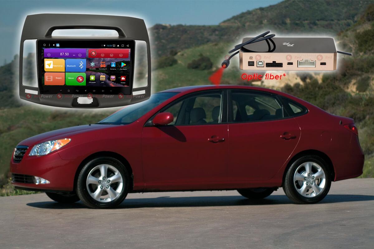 Автомагнитола цвет серый для Hyundai Elantra RedPower K 51092 R IPS DSP ANDROID 8+ (+ Камера заднего вида в подарок!)
