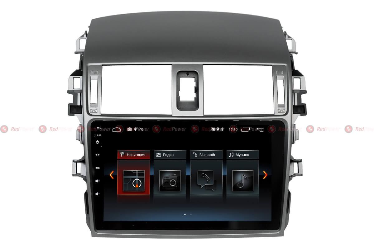 Автомагнитола Redpower 30063 IPS Toyota Corolla (2007-2012) Android 8.1 (+ камера заднего вида)RedPower<br>Магнитола на 4-х ядерном процессоре с  2 Гб оперативной памяти, стекло 2.5D мультитач, приятное на ощупь с презентабельным внешним видом. Подсветка кнопок RGB.<br>На борту GPS/ГЛОНАСС модуль, есть возможность подключения к сети Интернет. Android 8.1.