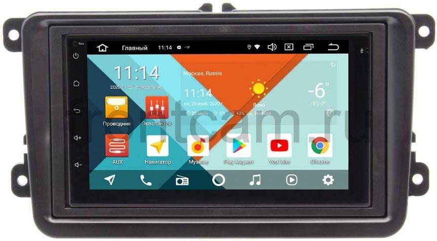 Штатная магнитола Volkswagen Amarok, Caddy, Golf, Passat, Polo Wide Media MT7001PK-2/16-RP-VWTRN-22 на Android 9.1 (DSP 3G-SIM) (+ Камера заднего вида в подарок!)