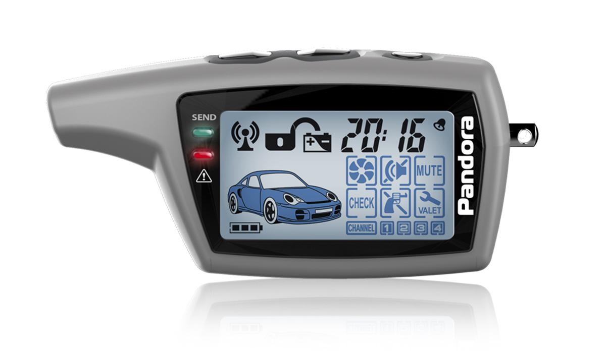 Брелок Pandora LCD DXL 077 grey сигнализация pandora dxl 4300 с автозапуском