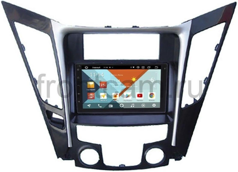 Магнитола для Hyundai Sonata VI (YF) Wide Media KS7001QR-3/32-RP-HDSND-184 на Android 10 (DSP CarPlay 4G-SIM) (+ Камера заднего вида в подарок!)