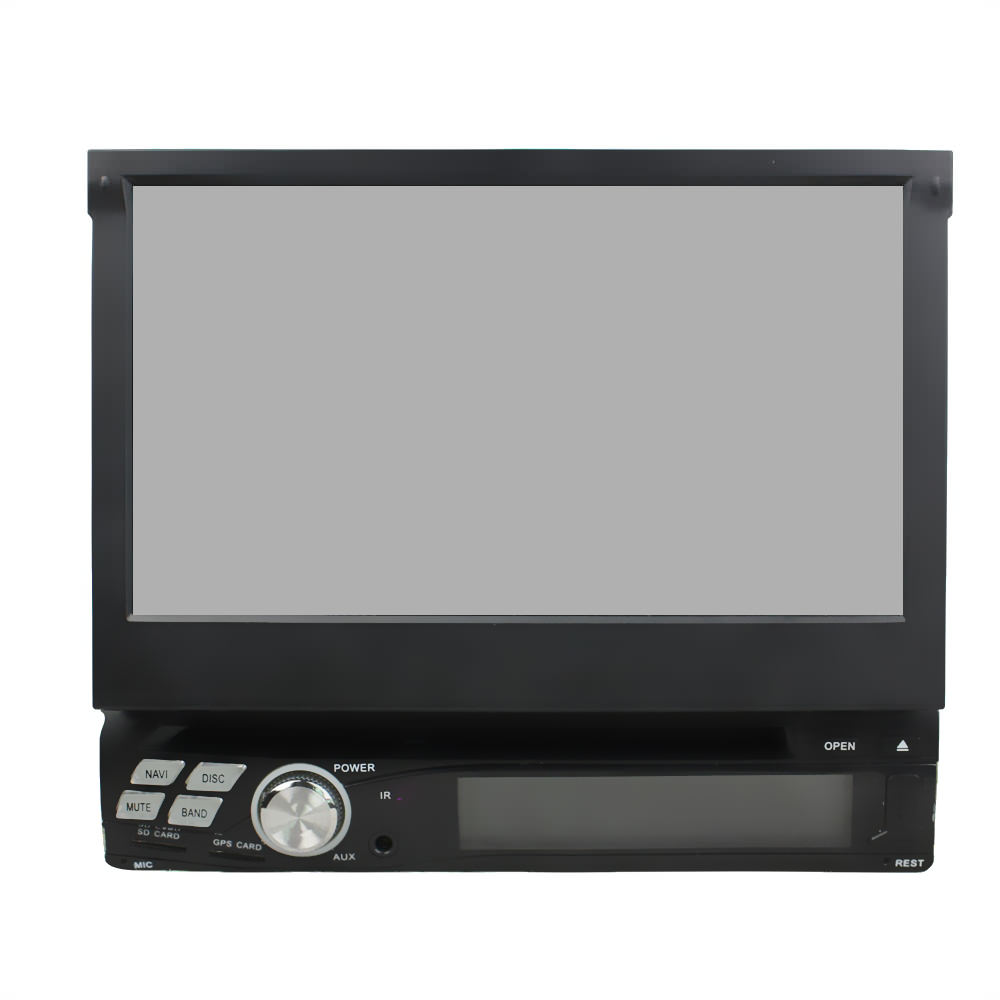 Штатная магнитола CARMEDIA KD-8600-P3-7 DVD универсальная установка I DIN junsun 7 inch hd car gps navigation with fm bluetooth avin multi languages europe sat nav truck car gps navigator with free maps