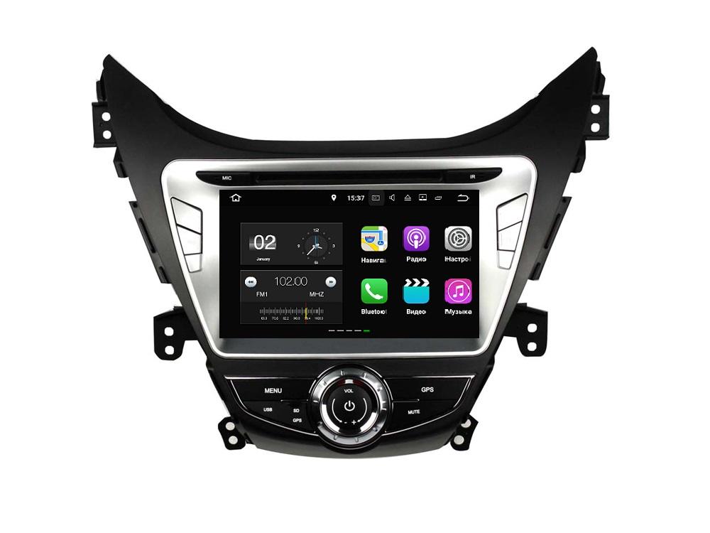 Штатная магнитола FarCar s130+ для Hyundai Elantra 2011-2013 на Android (W360) штатная магнитола farcar s130 для hyundai santa fe 2012 big screen на android w209