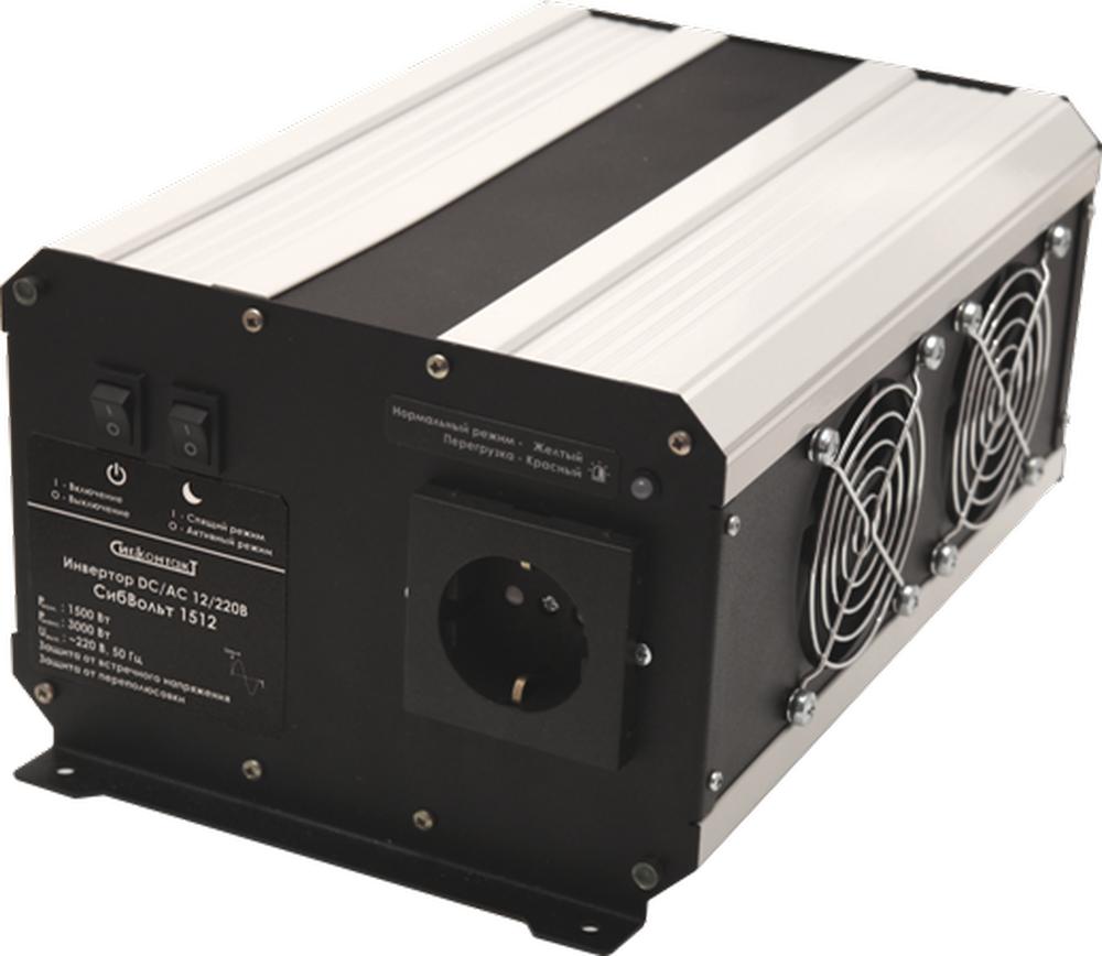 Инвертор DC-AC, 12В/1500Вт Li-ion СибВольт 1512 преобразователь напряжения инвертор с usb портом 150 вт 12в dc 220в ac koto 12v 503 0975607602