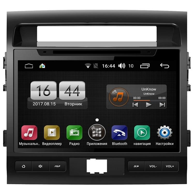 Штатная магнитола FarCar s170 для Toyota Land Cruiser 200 на Android (L381BS) штатная магнитола daystar ds 7083hd toyota land cruiser 100 android 6 4 ядра