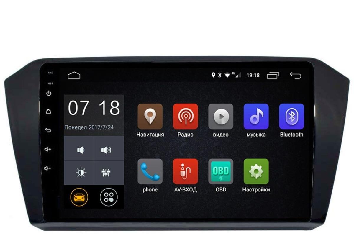 Штатная магнитола Volkswagen Passat B8 2015-2019 LeTrun 2758 Android 6.0.1 10 дюймов (4G LTE 2GB) (+ Камера заднего вида в подарок!)