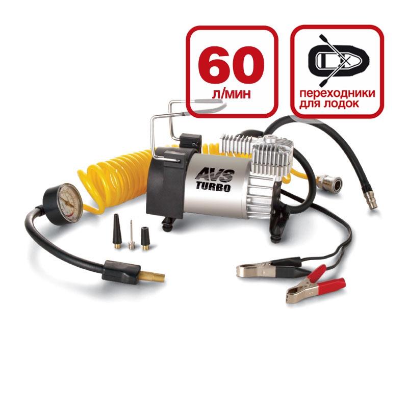 Компрессор автомобильный AVS Turbo KS600 автомобильный аккумулятор tubor aquatech efb 60