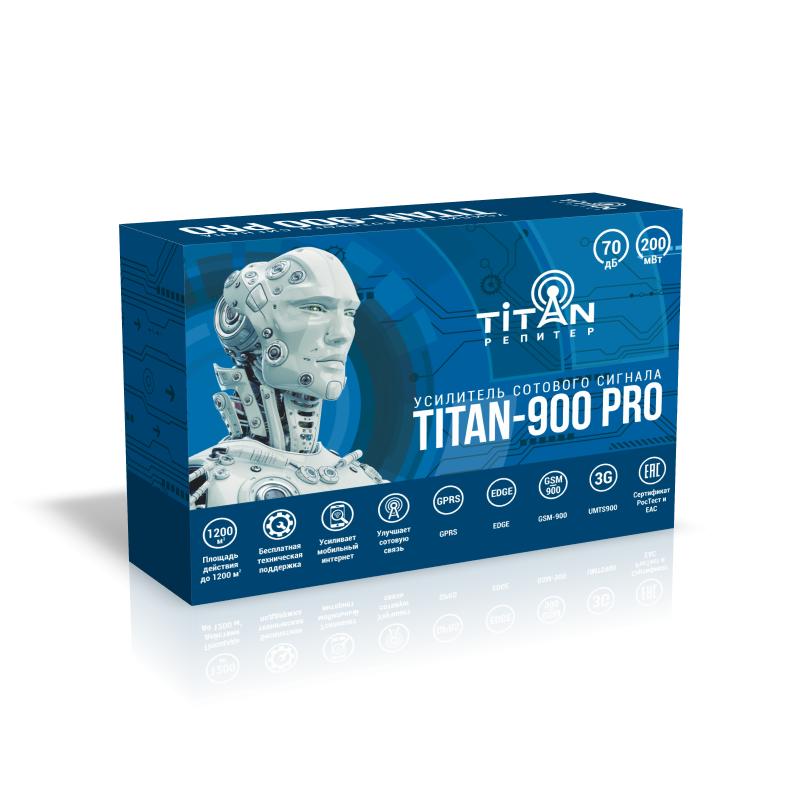 Усилитель сигнала сотовой связи (репитер) Titan-900 PRO репитер titan 2100