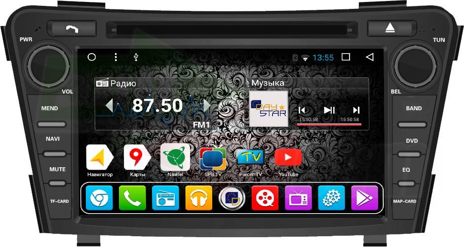 Штатная магнитола DayStar DS-7097HD Hyundai i40 2012- ANDROID 8.1.0 (8 ядер, 2Gb ОЗУ, 32Gb памяти) штатная магнитола daystar ds 7067hd hyundai elantra 2013 android 8 1 0 8 ядер 2gb озу 32gb памяти