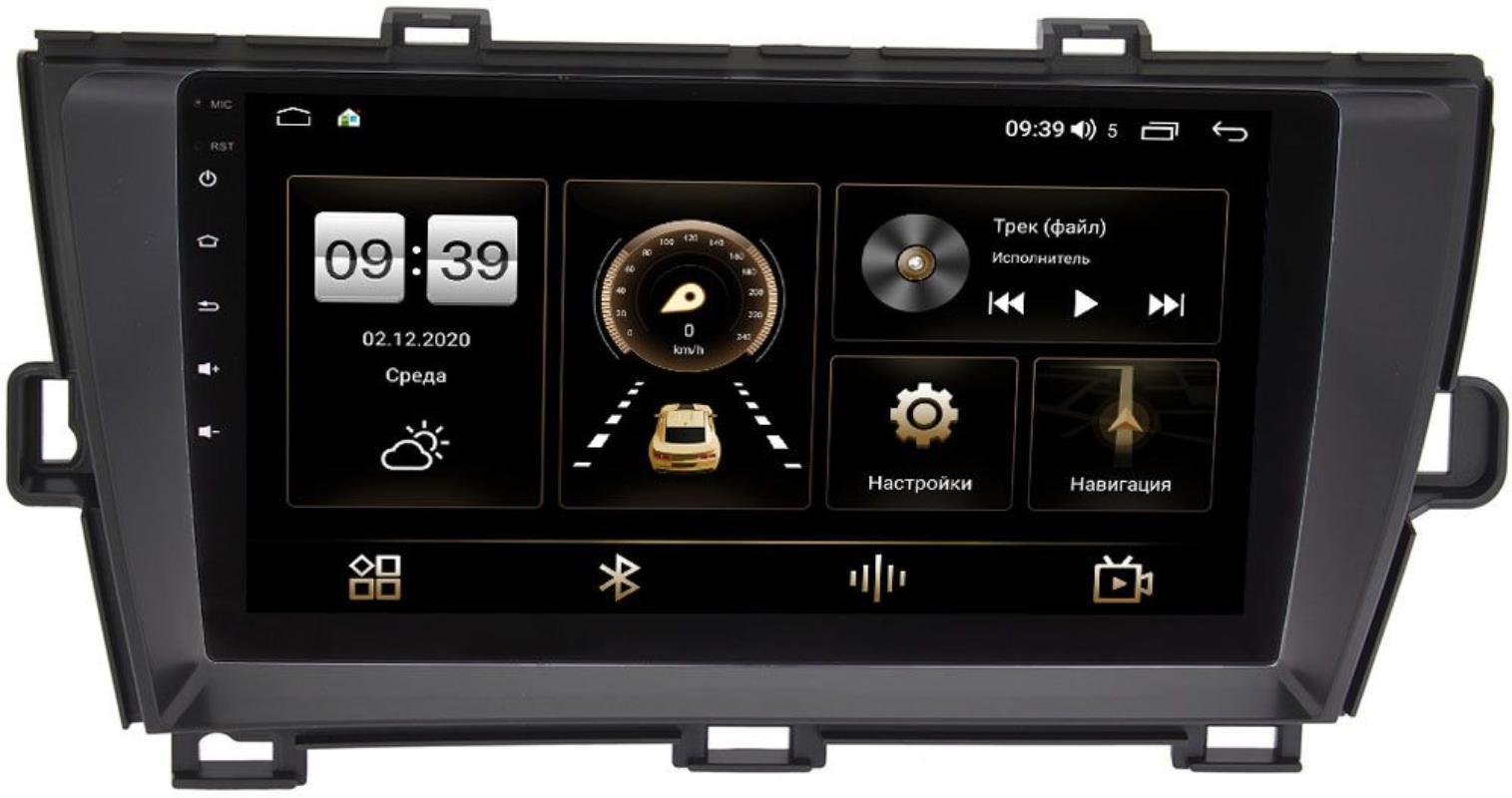 Штатная магнитола LeTrun 4166-9-195 для Toyota Prius III (XW30) 2009-2015 (правый руль) на Android 10 (4G-SIM, 3/32, DSP, QLed) (+ Камера заднего вида в подарок!)