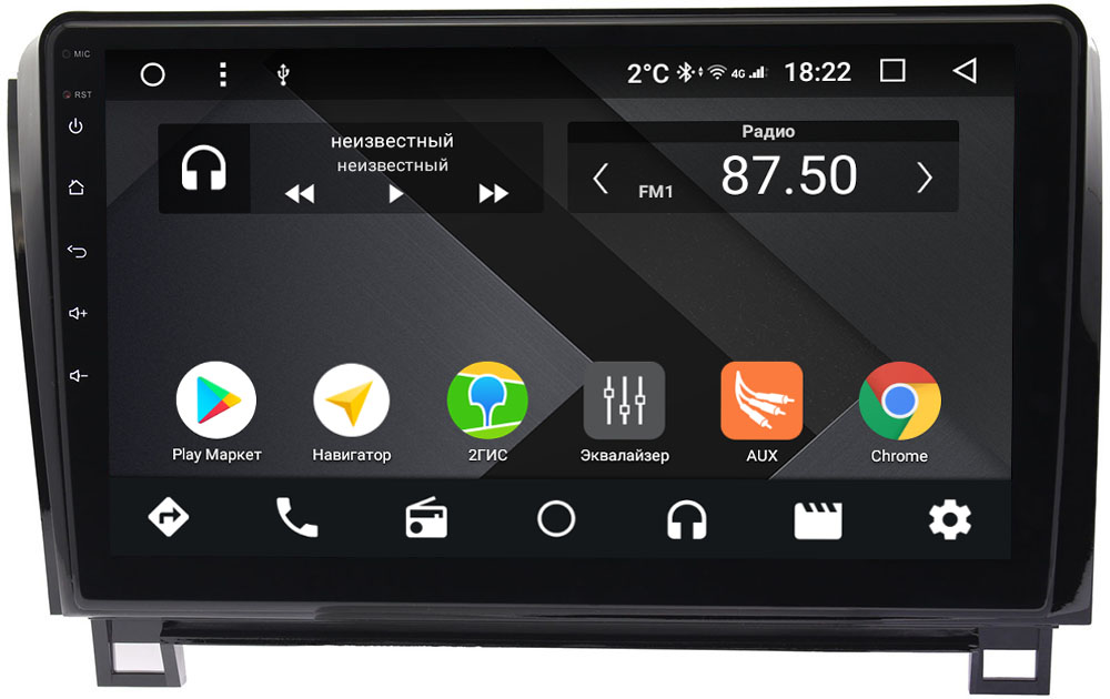 Штатная магнитола Toyota Tundra II, Sequoia II 2008-2018 Wide Media CF1055-OM-4/64 на Android 9.1 (TS9, DSP, 4G SIM, 4/64GB) (с усилителем JBL) (+ Камера заднего вида в подарок!)