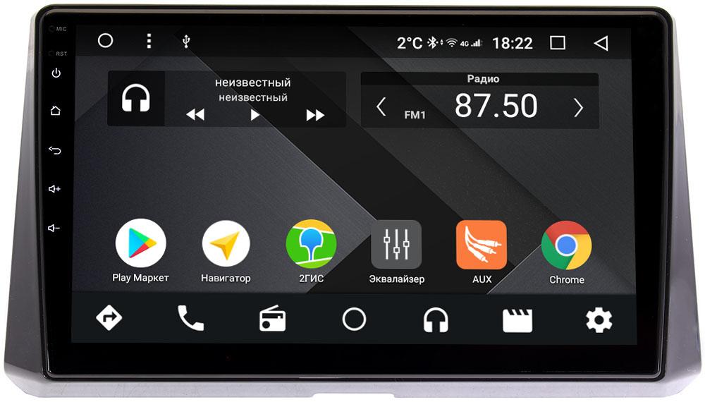 Штатная магнитола Toyota Corolla XII 2019-2020 Wide Media CF1078-OM-4/64 на Android 9.1 (TS9, DSP, 4G SIM, 4/64GB) (+ Камера заднего вида в подарок!)