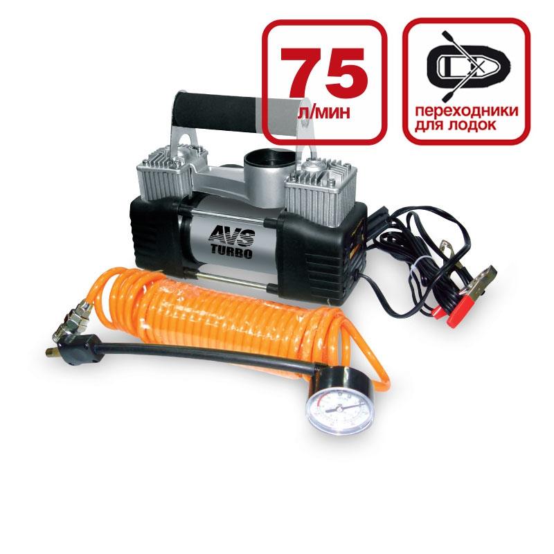 Компрессор автомобильный AVS Turbo KS750D компрессор автомобильный avs turbo ka580