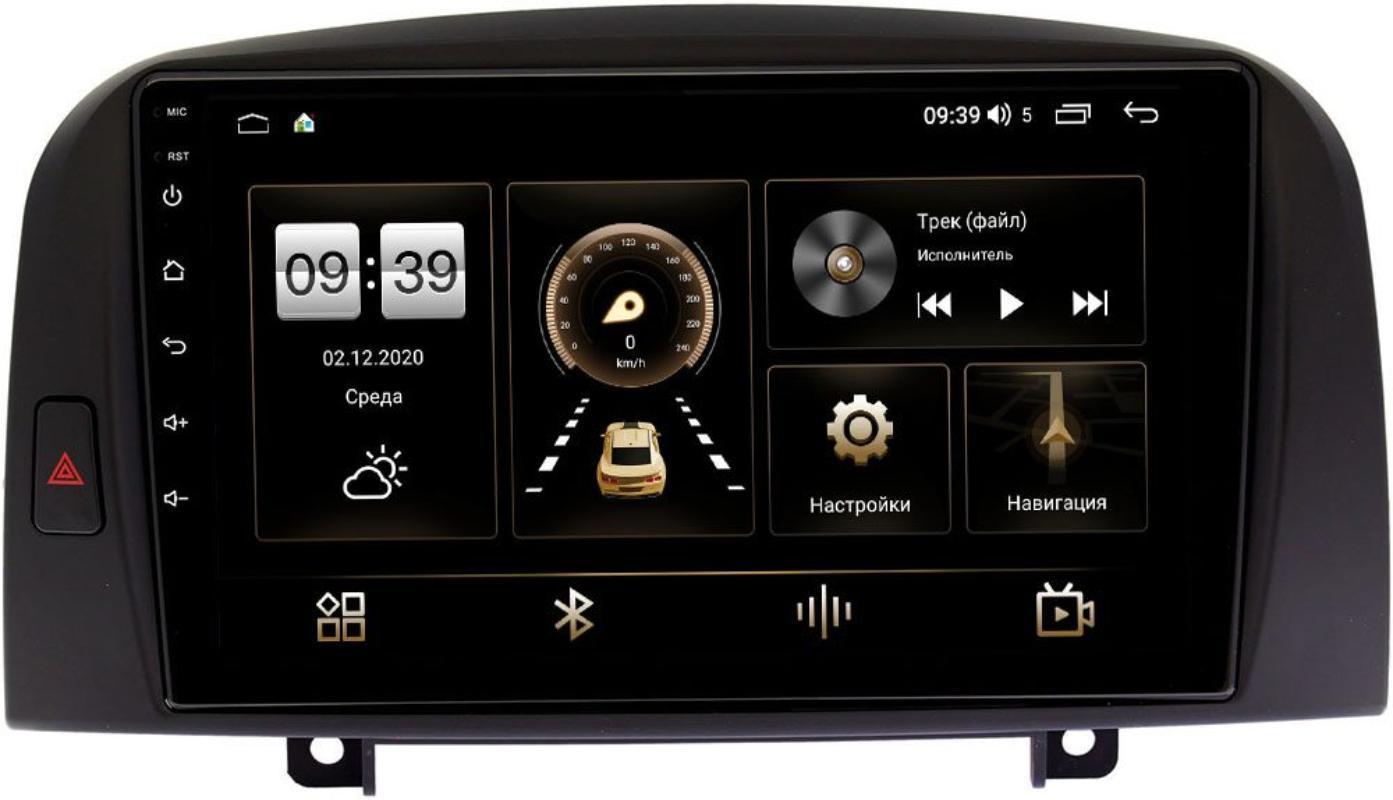 Штатная магнитола LeTrun 4196-9259 для Hyundai Sonata V (NF) 2004-2007 на Android 10 (6/128, DSP, QLed) С оптическим выходом (+ Камера заднего вида в подарок!)