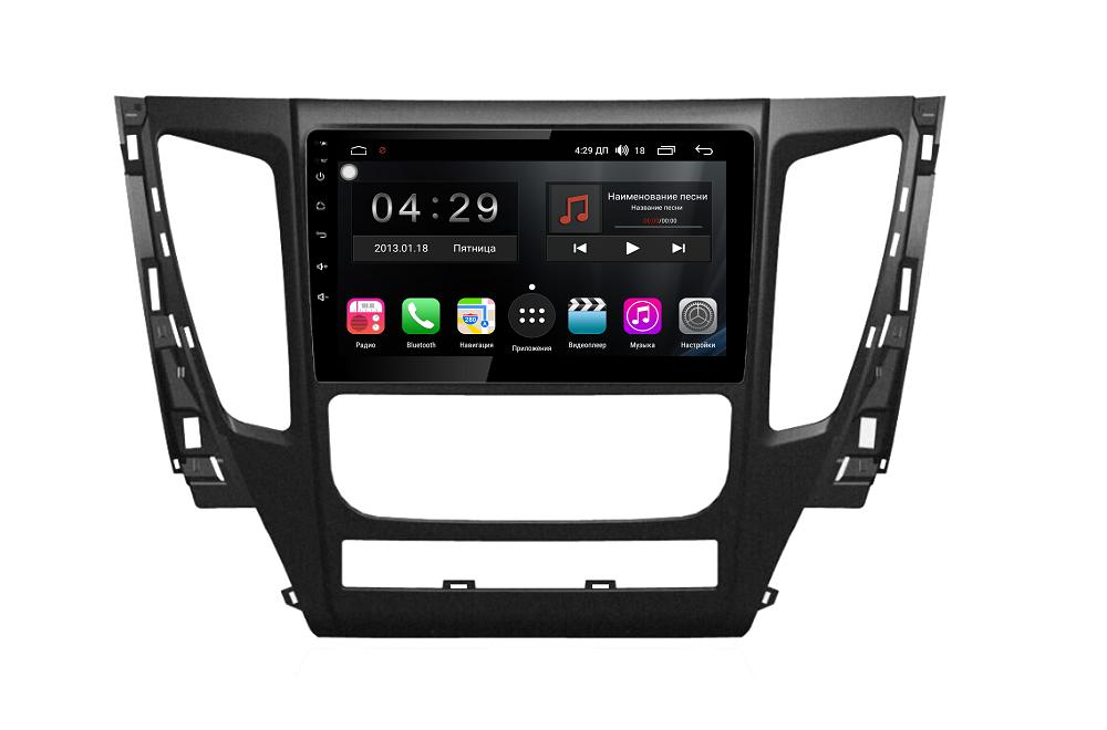 Штатная магнитола FarCar s300 для Mitsubishi Pajero Sport на Android (RL1181R) (+ Камера заднего вида в подарок!) штатная магнитола farcar s130 для mitsubishi outlander asx lancer x pajero sport l200 pajero 4 на android r230