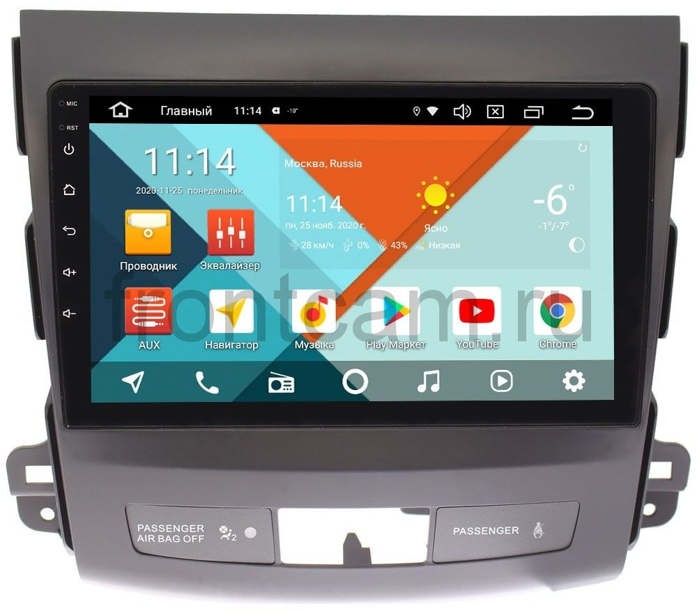 Штатная магнитола Wide Media KS9029QM-2/32 DSP CarPlay 4G-SIM для Mitsubishi Outlander II (XL) 2006-2012 без Rockford на Android 10 (+ Камера заднего вида в подарок!)
