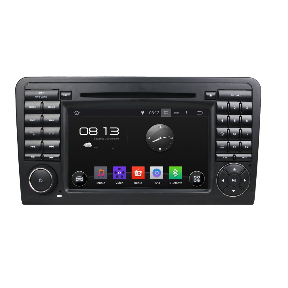 Штатная магнитола CARMEDIA KD-7219-P3-7 DVD Mercedes ML класс W164 2005-2011, GL класс X164 2006-2012 sncn led daytime running light for mercedes benz w164 ml280 ml300 ml350 2006 2009 waterproof abs 12v drl fog lamp decoration