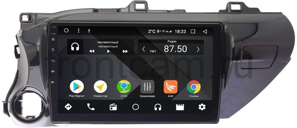 Штатная магнитола Toyota Hilux VIII 2015-2018 Wide Media CF1071-OM-4/64 на Android 9.1 (TS9, DSP, 4G SIM, 4/64GB) (для авто без магнитолы) (+ Камера заднего вида в подарок!)