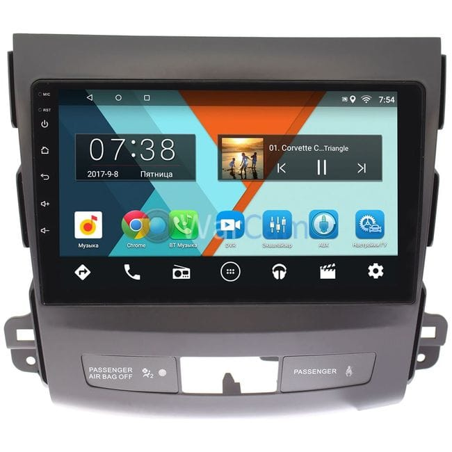 Штатная магнитола Peugeot 4007 2007-2012 Wide Media CF9058-OM-4/64 для авто c Rockford на Android 9.1 (TS9, DSP, 4G SIM, 4/64GB) (+ Камера заднего вида в подарок!)
