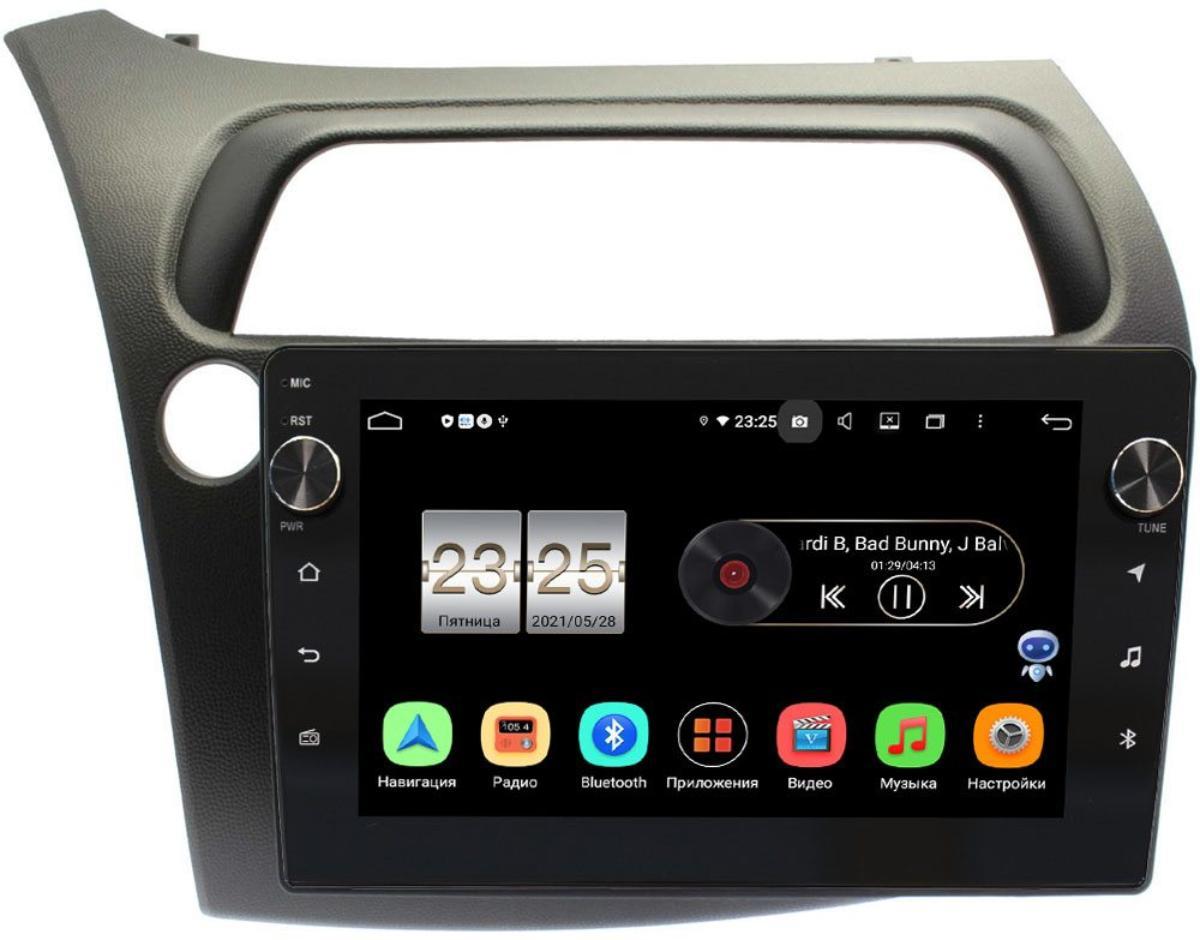 Штатная магнитола LeTrun BPX609-HO107N для Honda Civic 8 (VIII) 5D 2005-2011 на Android 10 (4/64, DSP, IPS, с голосовым ассистентом, с крутилками) (+ Камера заднего вида в подарок!)