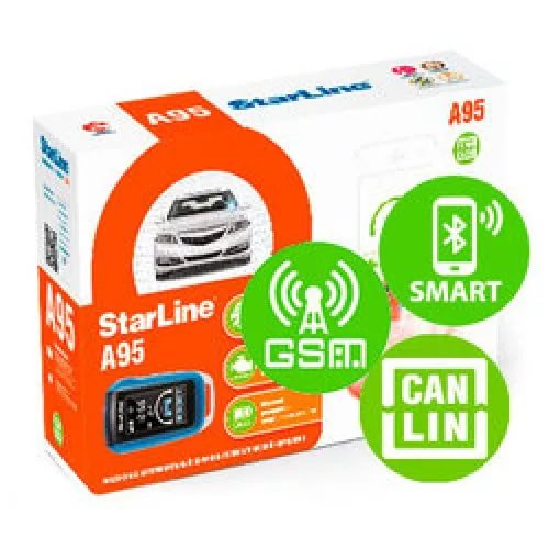 Автосигнализация StarLine A95 BT CAN+LIN GSM автосигнализация без автозапуска starline a63