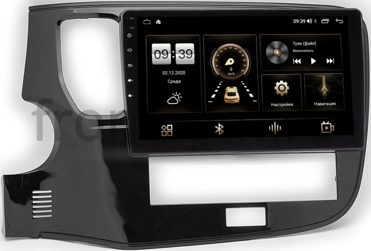 Штатная магнитола Mitsubishi Outlander III 2012-2021 (глянец) LeTrun 4165-10-1153 на Android 10 (4G-SIM, 3/32, DSP, QLed) (+ Камера заднего вида в подарок!)