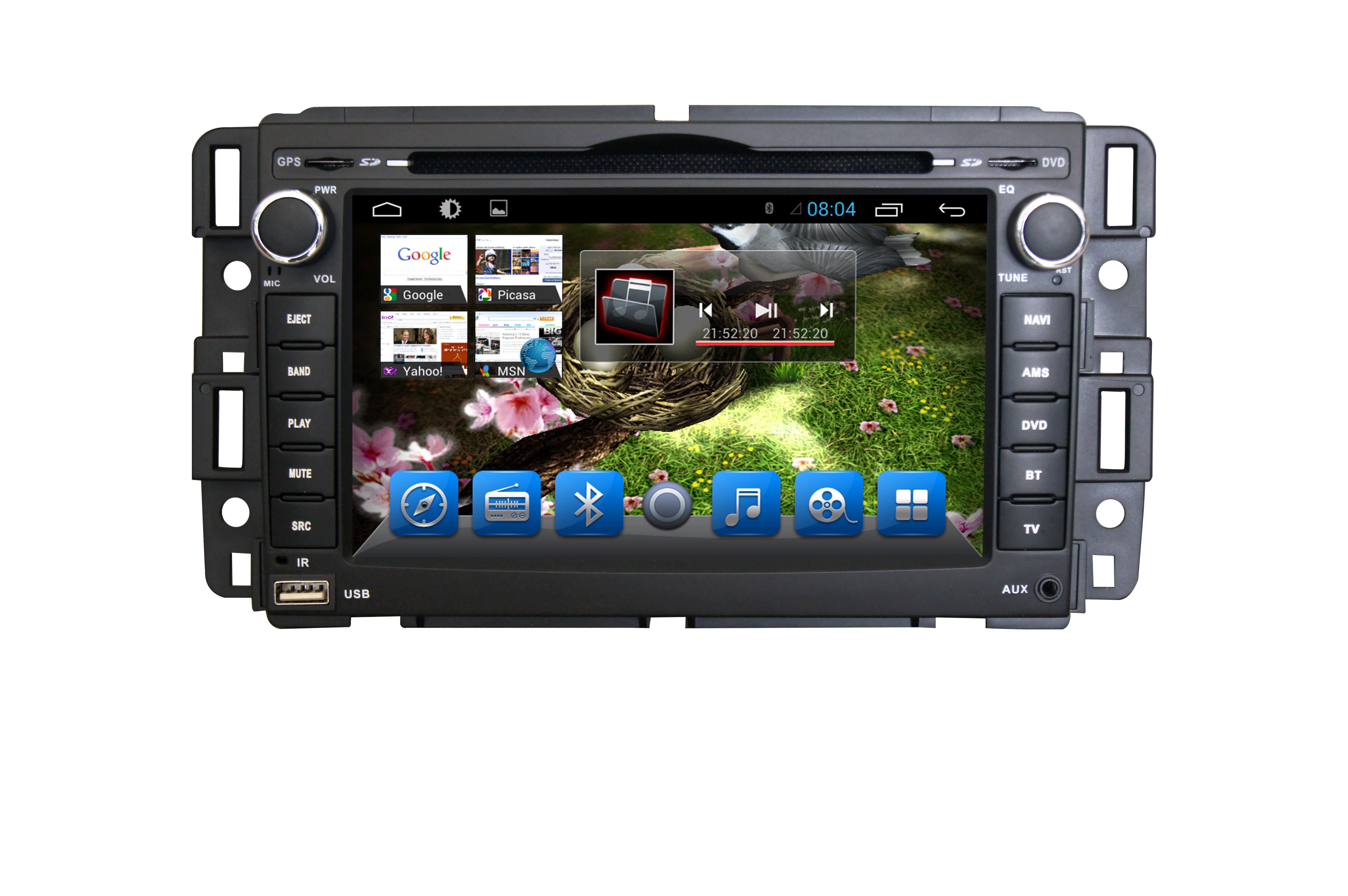Штатная магнитола для Hummer H2 2002-2009 CARMEDIA KR-7041-T8 на Android 7.1 (+ камера заднего вида)CARMEDIA<br>Мультимедийные возможности и преимущества ОС Андроид сочетает штатная магнитола Carmedia KR-7041-T8 для Hummer H2 2002-2009. Пользуйтесь навигацией, слушайте радио, смотрите фильмы, играйте в игры!