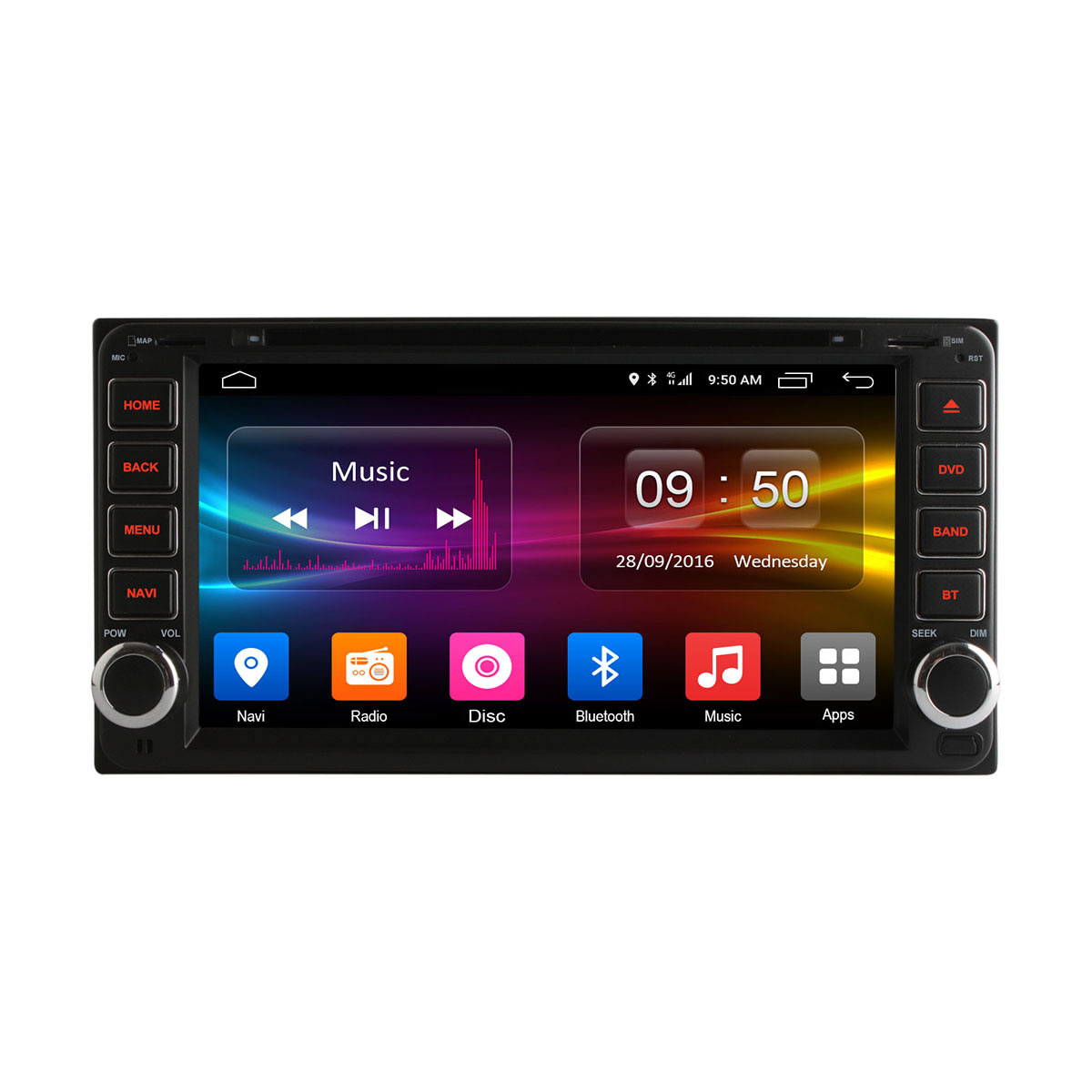 Штатная магнитола CARMEDIA OL-7606-8 (C500+) Toyota UNV II DIN lsqstar 8 android4 0 capacitive screen car dvd player w gps fm bt wifi swc tv aux for toyota prius