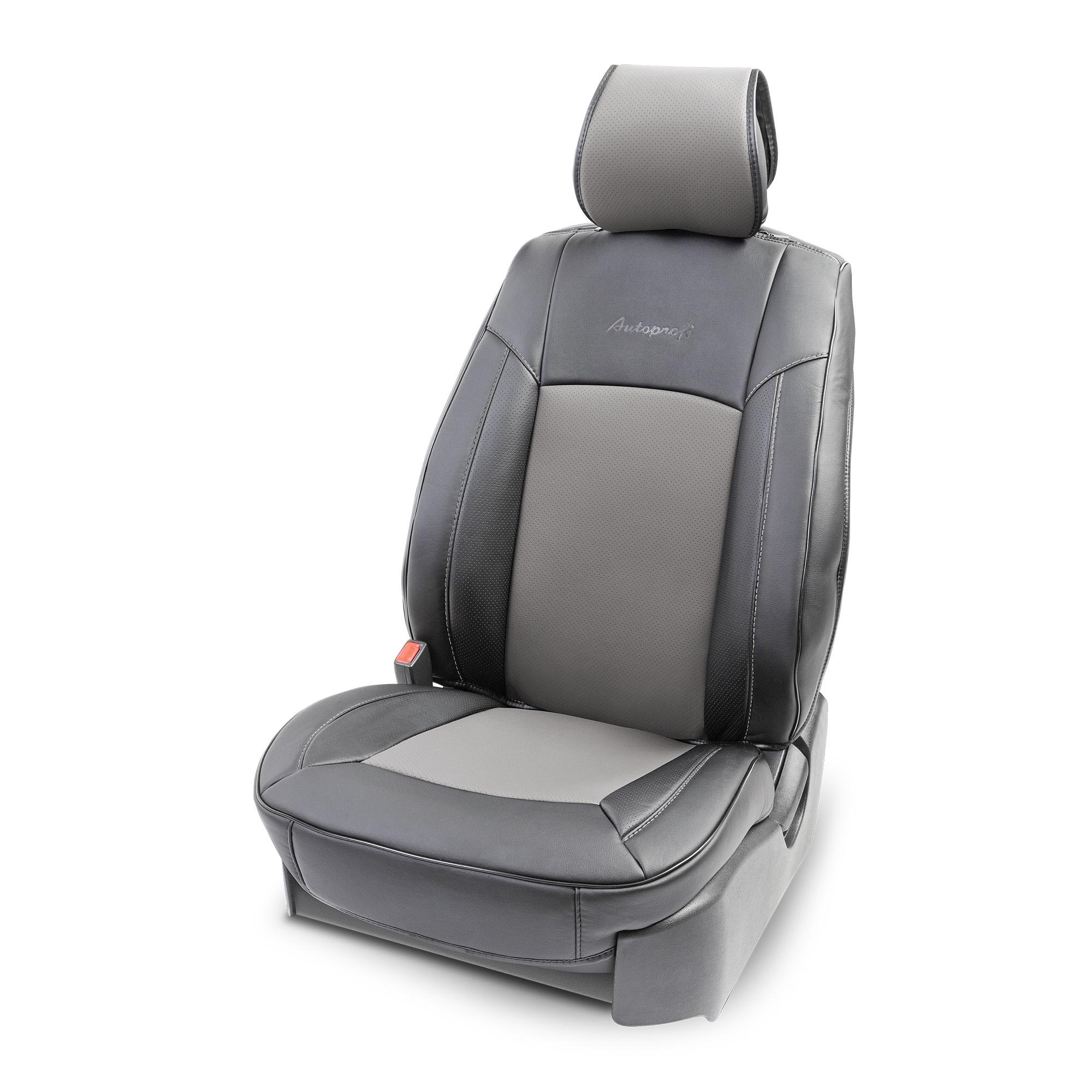 цена на Накидка на сиденье каркасная AUTOPROFI экокожа HIT-310G BK/D.GY