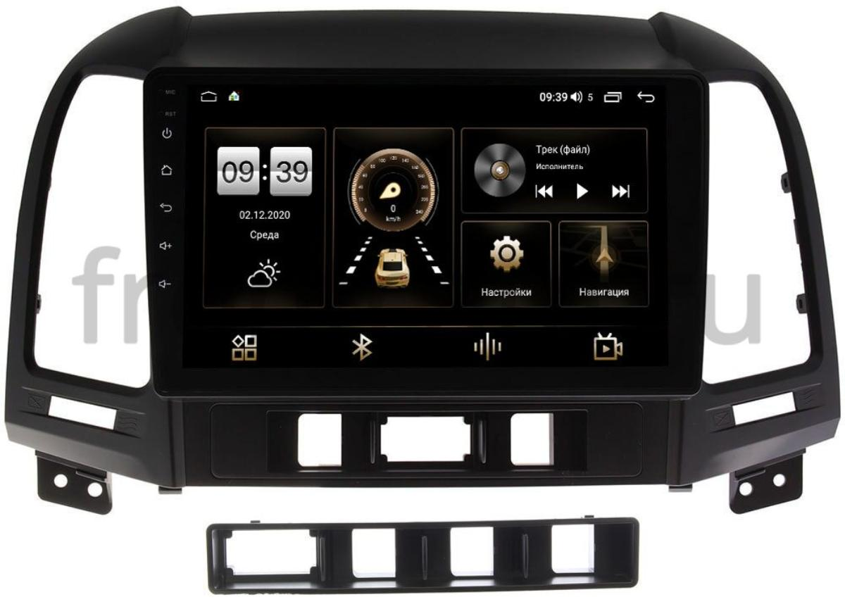Штатная магнитола Hyundai Santa Fe II 2005-2012 LeTrun 4196-9052 на Android 10 (6/128, DSP, QLed) С оптическим выходом (+ Камера заднего вида в подарок!)