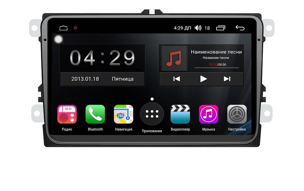 Штатная магнитола FarCar s300-SIM 4G для Volkswagen, Skoda на Android (RG818) (+ Камера заднего вида в подарок!) штатная магнитола carmedia ol 8992 dvd volkswagen skoda seat по списку