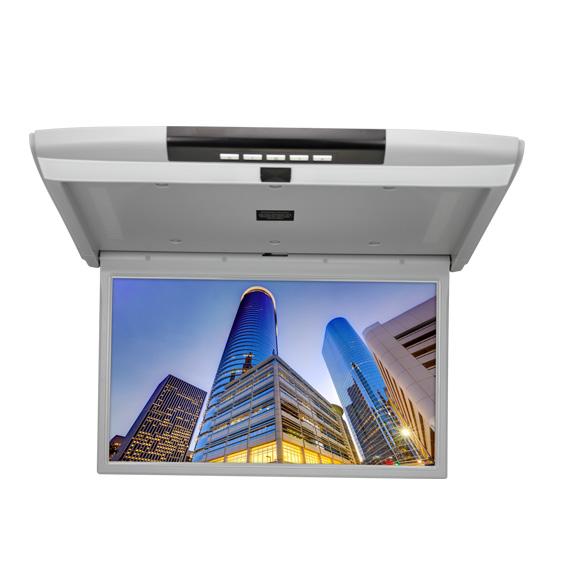 Автомобильный потолочный монитор 15.6 с медиаплеером FarCar-Z003 (серый) (+ Двухканальные наушники в подарок!)