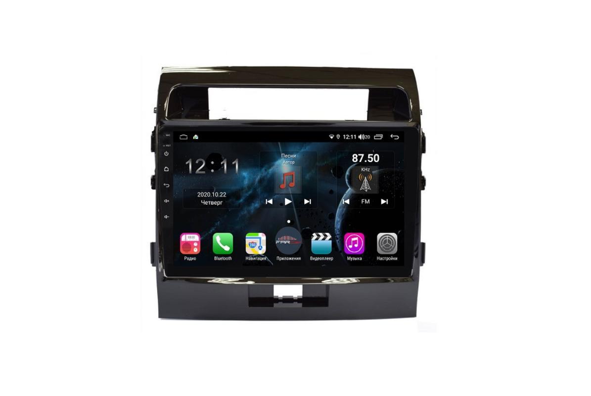 Штатная магнитола FarCar s400 для Toyota Land Cruiser 200 на Android 10 (H381R) (+ Камера заднего вида в подарок!)