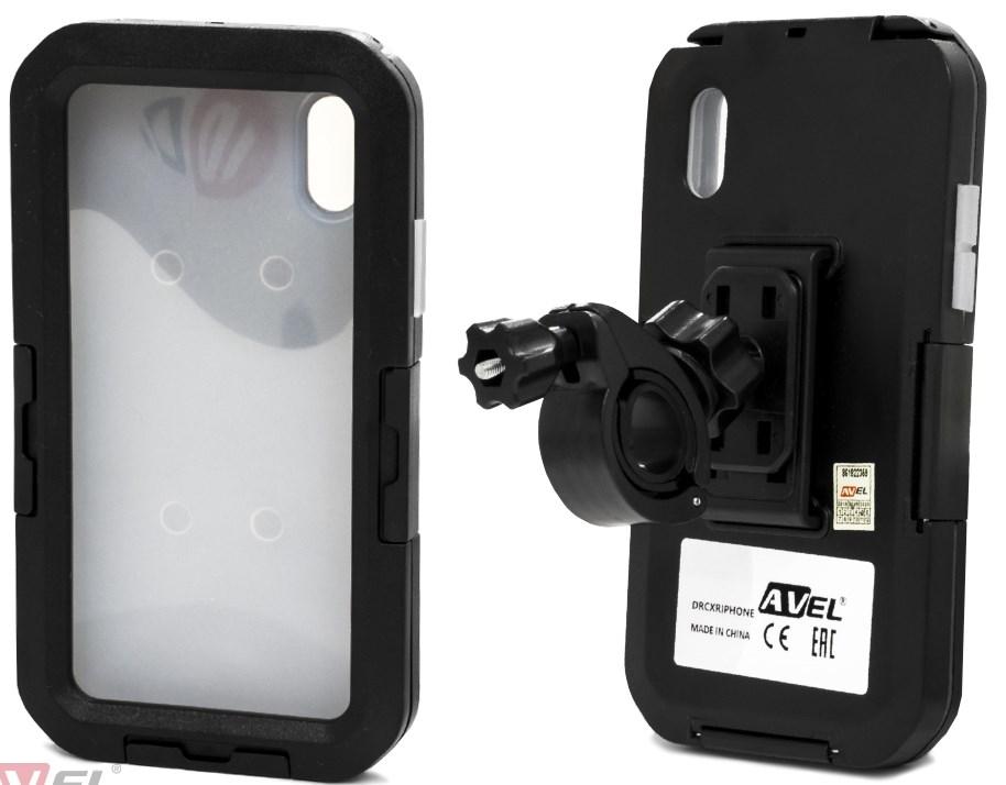 Водонепроницаемый чехол/ держатель для iPhone XR на велосипед и мотоцикл DRCXRIPHONE (черный) герметичный чехол tribord водонепроницаемый чехол маленького размера для телефона ipx7