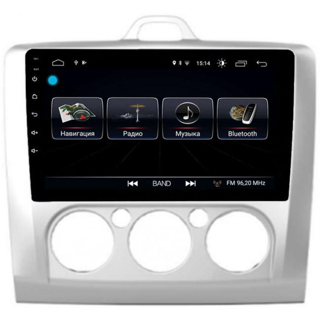 Штатная магнитола LeTrun 2445 для Ford Focus II 2005-2011 (без климата) Android 8.0.1 MTK-L 2Gb (+ Камера заднего вида в подарок!)