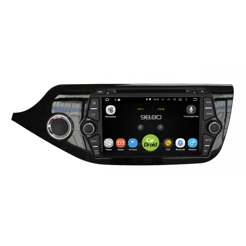Штатная магнитола Roximo CarDroid RD-2306 для KIA Ceed 2, 2012 (Android 8.0) (+ камера заднего вида) штатная магнитола roximo cardroid rd 2301 для kia sorento 2 2013 android 8 0
