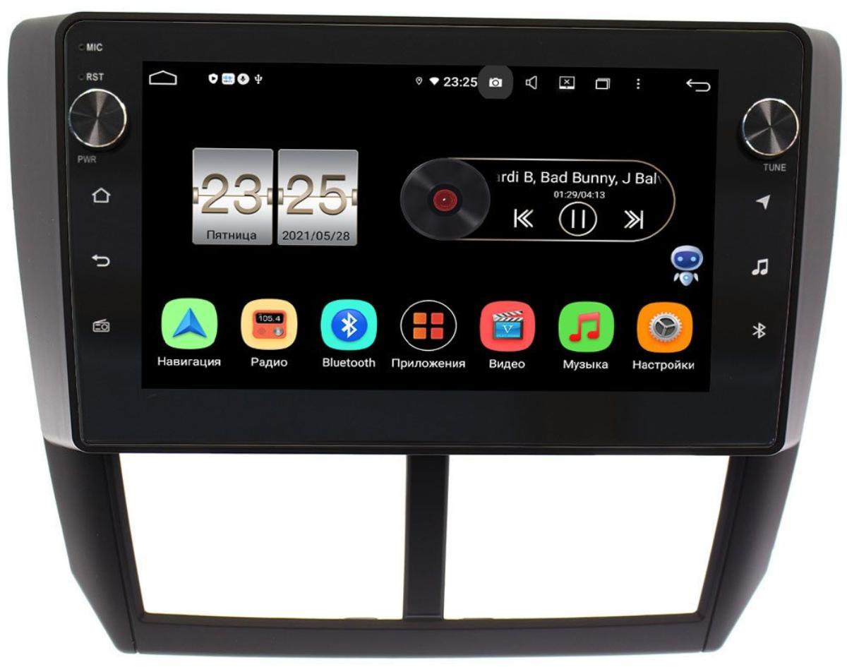 Штатная магнитола Subaru Forester, Impreza 2008-2014 LeTrun BPX409-9080 на Android 10 (4/32, DSP, IPS, с голосовым ассистентом, с крутилками) (+ Камера заднего вида в подарок!)