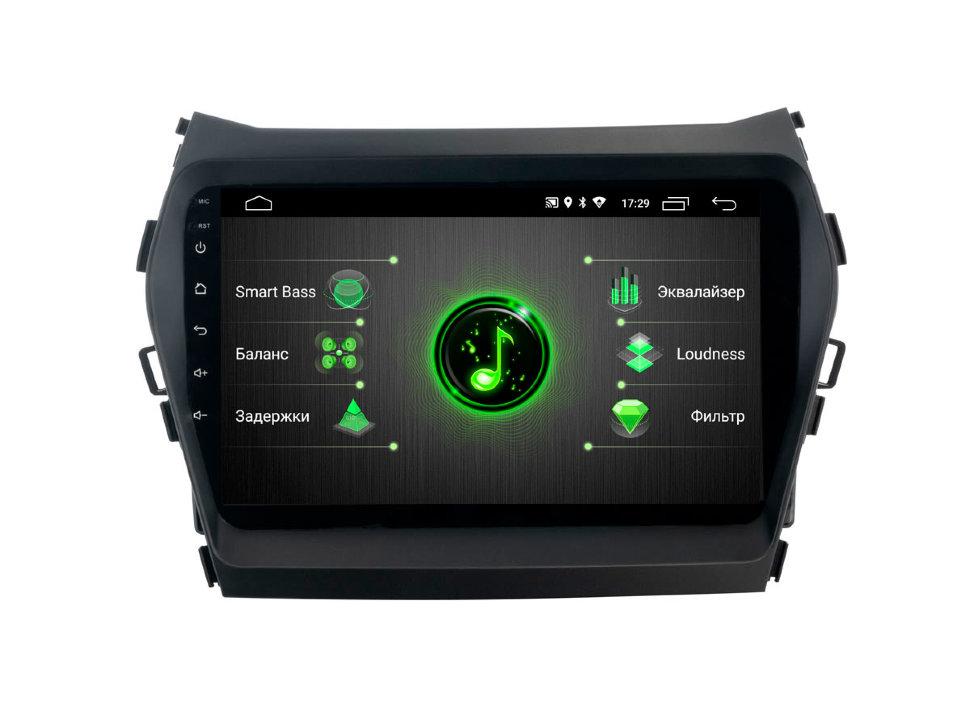 Штатная магнитола Incar DTA-2409 для Hyundai Santa Fe 13-18 Android 9.0 с процессором DSP (+ Камера заднего вида в подарок!)